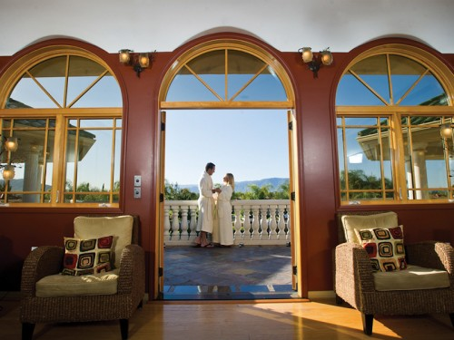 Patio with views of Mt Palomar