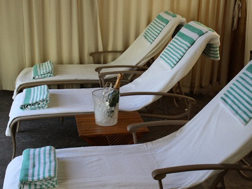 Lounge in our cabanas by the pool