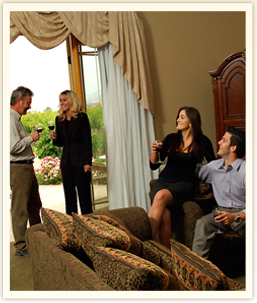 Groups enjoying vineyard villa in Temecula Wine Country